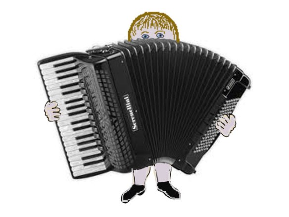 The big, heavy, black accordian ... or one very like it!
