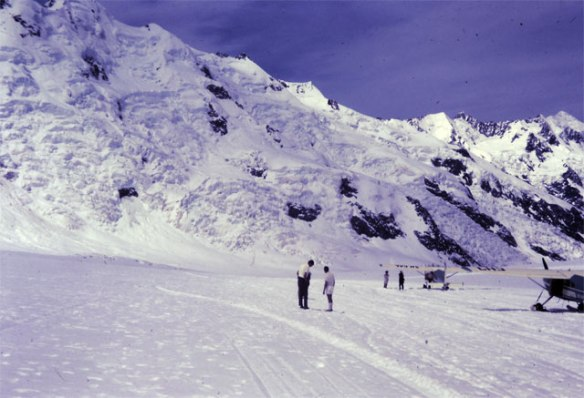 On the Tasman Glacier.